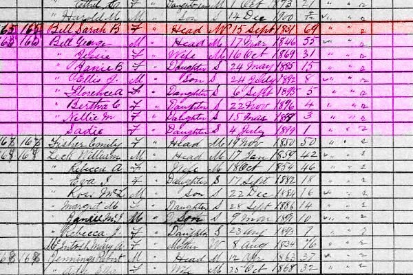 Bell 1901 census